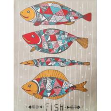 Полотенце п/лен Fish