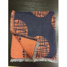 Плед из шерсти альпака Mina (blue/orange)