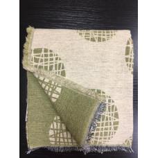 Плед из шерсти альпака Mina (beige/green)