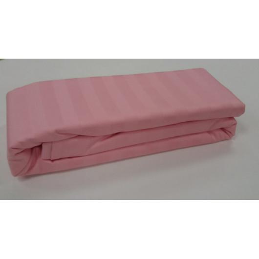 """Простыня на резинке """"Розовый"""" (stripe) La Prima"""