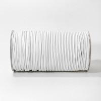 Резинка шляпная 2,5 мм белая для масок